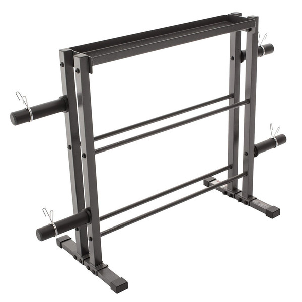 The Marcy Combo Weights Storage Rack DBR-0117 is a heavy duty rack for organizing weights