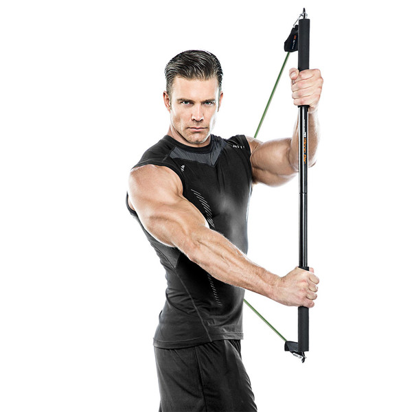 Bionic Body BBEB-020 Exercise Bar in use by Model