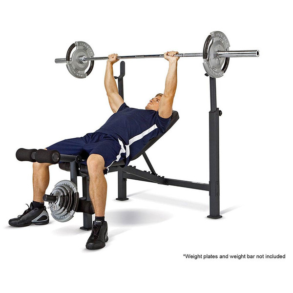 The Olympic Bench Competitor CB-729 in use by model - bench press