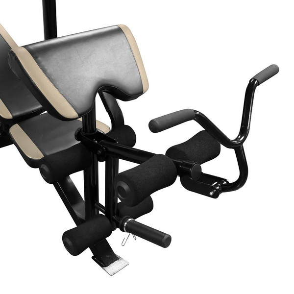 The Marcy Two-Piece Olympic Bench MD-879 curl addition makes curling easy