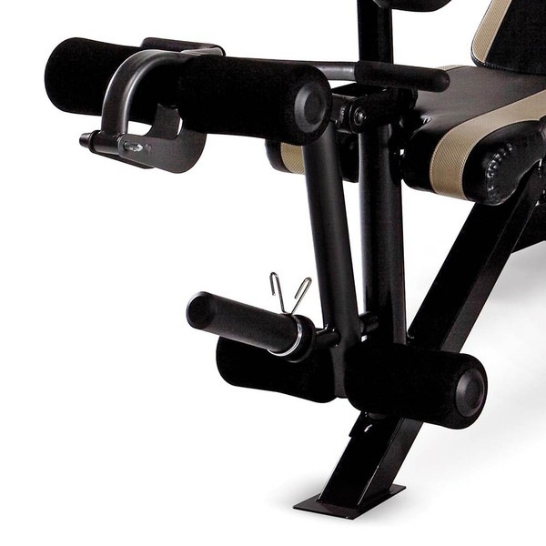 The Marcy Two-Piece Olympic Bench MD-879 includes a leg developer