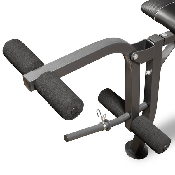 The Standard Bench with 100lb Weight Set Marcy Diamond Elite MD-2082W includes a leg developer so you can get a full body workout