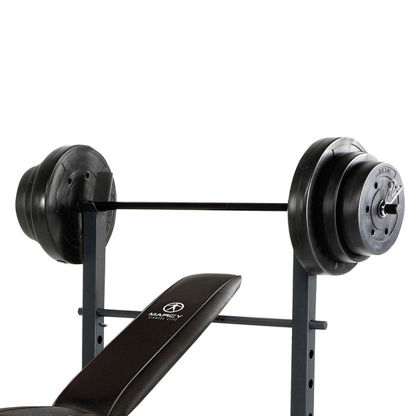 The Standard Bench with 100lb Weight Set Marcy Diamond Elite MD-2082W includes 100 pounds of weight plates