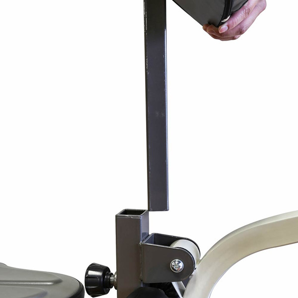 The Folding Standard Weight Bench Marcy MWB-20100 has a removable preacher curl pad
