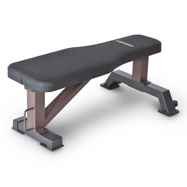 The SteelBody Flat Bench STB-10101 is essential for building the best home gym