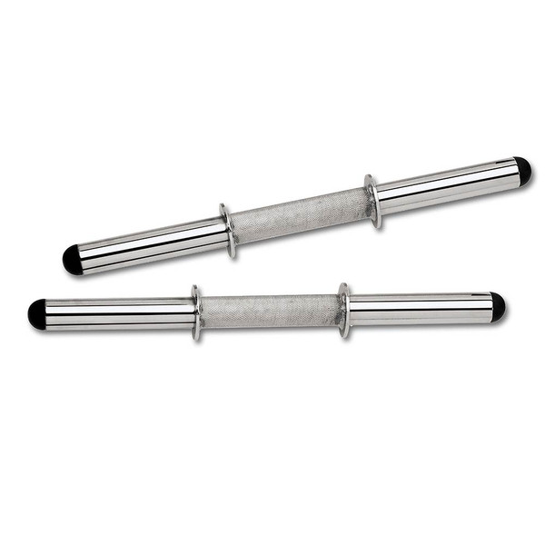 The Standard Curl Bar & Dumbbell Handle Set SDC-10.1 includes gripped dumbbell bars for added safety