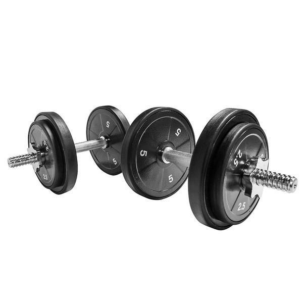 The Threaded Dumbbell Handles TDH-14.1 by Marcy has textured handles for added grip
