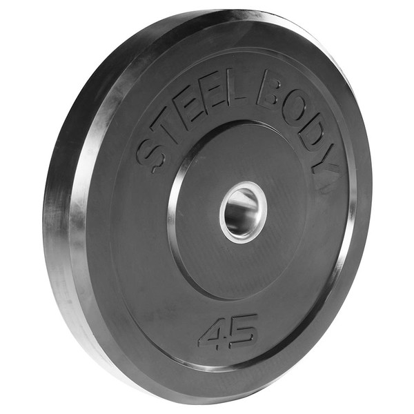 45 lbs. Olympic Bumper Plate by SteelBody to add weight to your HIIT Workout