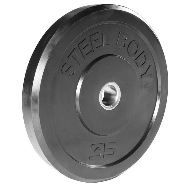 35 lbs. Olympic Bumper Plate by SteelBody to add weight to your HIIT Workout