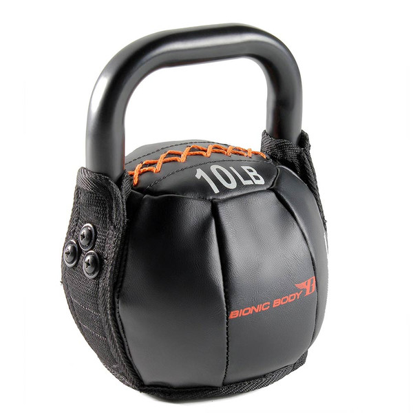 The 10 lbs. Bionic Body Kettle Bell is soft so you do not have to worry about getting hurt, it will optimize your HIIT conditioning workout!