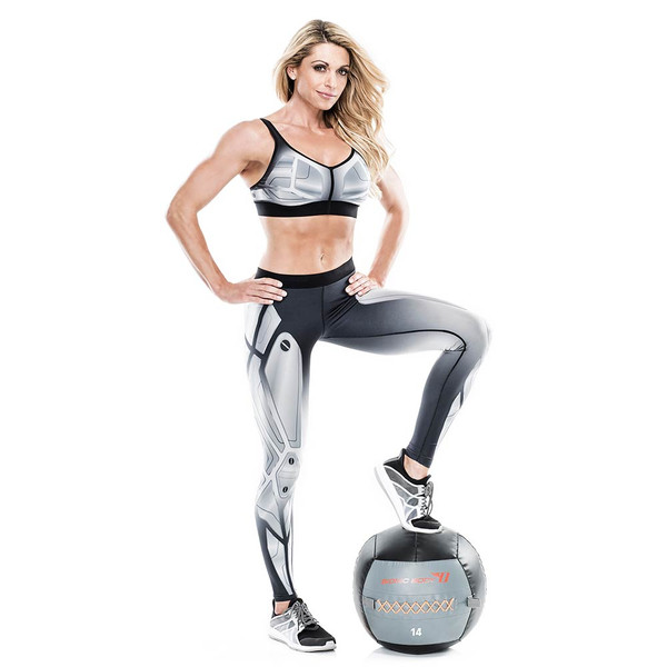 Kim Lyons with the Bionic Body 14 lb. Medicine Ball