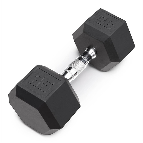 Marcy 35 LB. Rubber Hex Dumbbell | IBRH-035 Recycled Coated Dumbbells