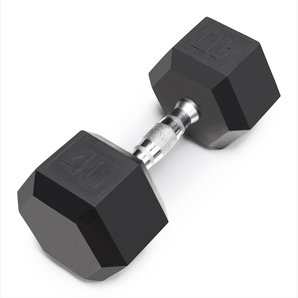 The Marcy 40 LB. Rubber Hex Dumbbell IBRH-040 is the best free weight for your high intensity interval body building training