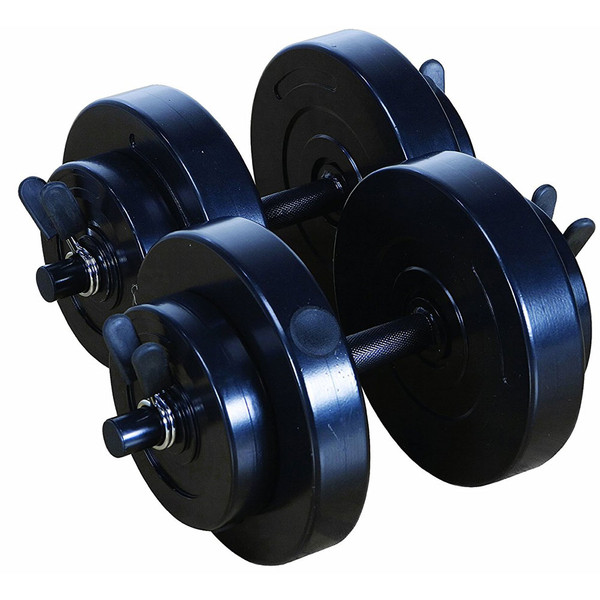 The 40 lbs. Vinyl Dumbbell Weight Set by Marcy will allow you to do workouts for your biceps, triceps, and more