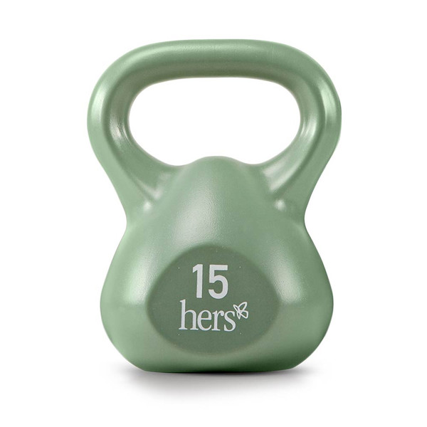 Hers 30 Lbs. Kettlebell Weight Set VKBS-30 has a durable vinyl finish