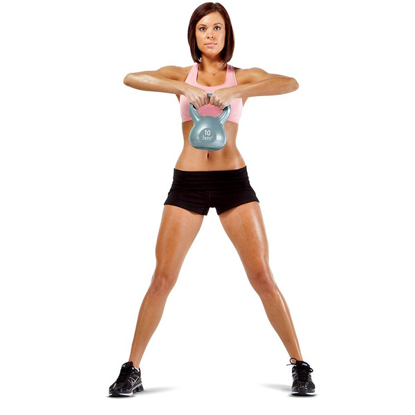 Hers 30 Lbs. Kettlebell Weight Set VKBS-30 in use