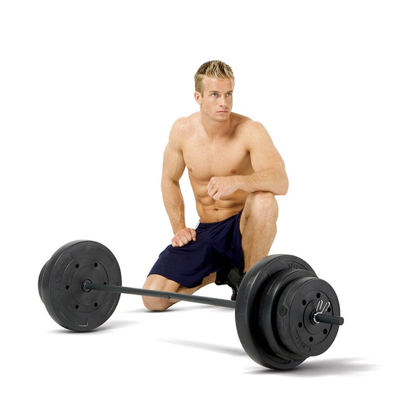 100 Pound Vinyl Weight Set by Marcy will complete your home gym with Model