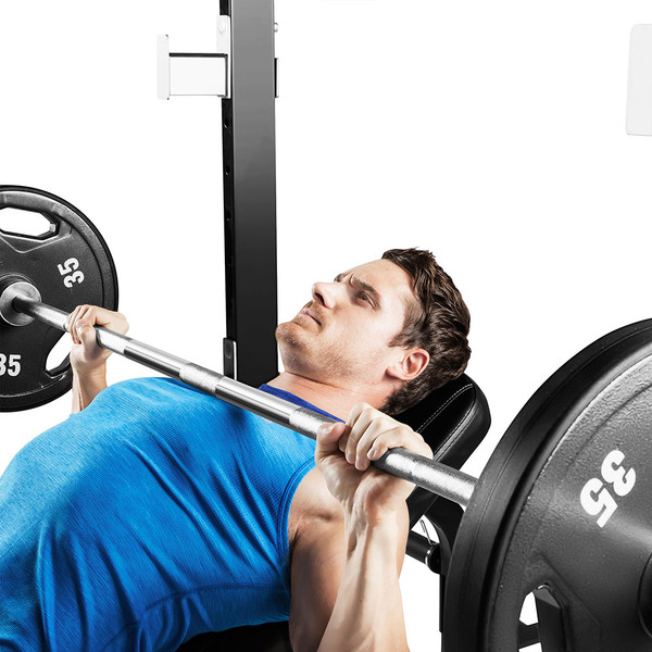 The Marcy Half Cage Rack SM-8117 in use - Bench press