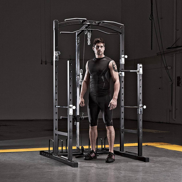 Model with the Marcy Cage Home Gym MWM-7041