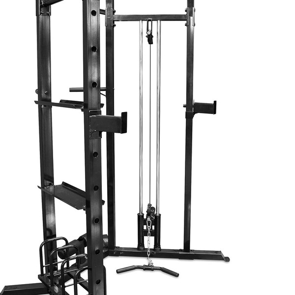 The Marcy Cage System SM-3551 includes safety catches for squats