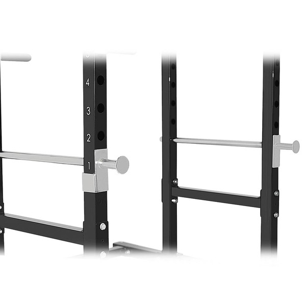 The Marcy Power Rack PM-3800 has bar catches to deliver a full body workout