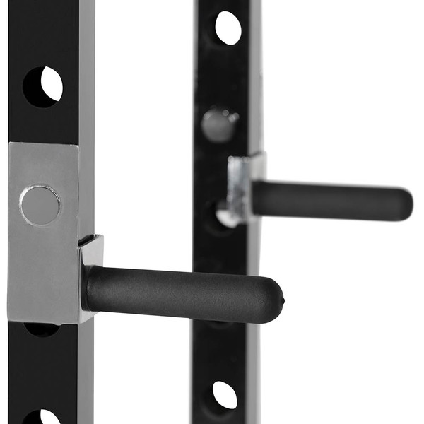 The Marcy Power Rack PM-3800 has dip bars for your triceps workout