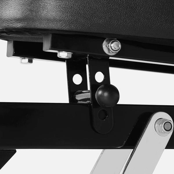 The Marcy Power Rack PM-3800 has a bench with adjustable seat pad for comfort
