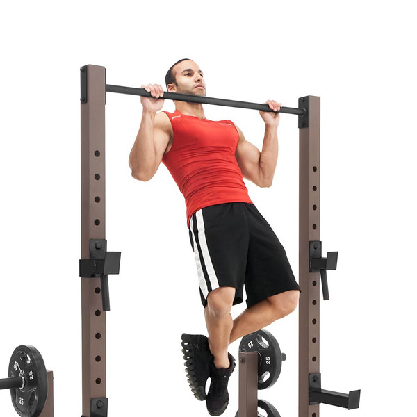The Full Rack Utility Trainer SteelBody STB-98010 in use - pull ups