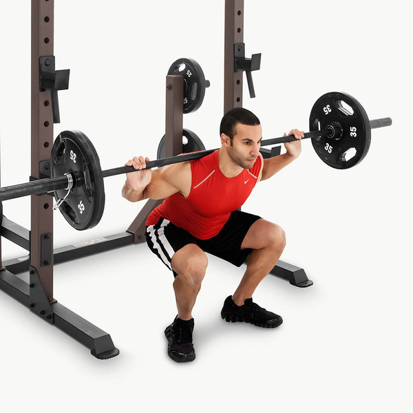 The Squat Rack Base Trainer SteelBody STB-70105 in use - squats