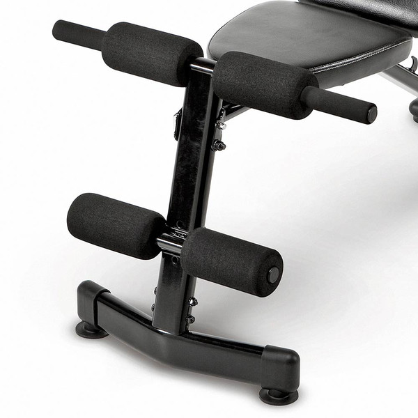 The Marcy Multi-Purpose Bench SB-228 includes leg rollers for your high intensity interval training
