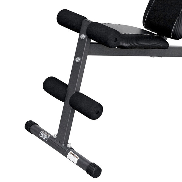 The Marcy Utility Bench SB-261W by Marcy includes roller pads to stabilize your intense workout