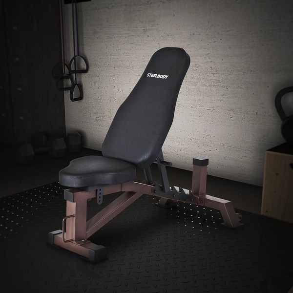 The Utility Bench STB-10105 by SteelBody is ideal for beginners and advanced users
