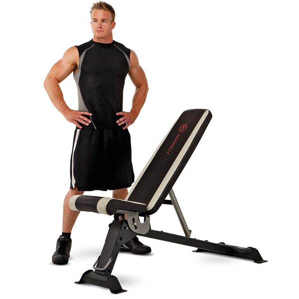 The Adjustable Utility Bench by Marcy adds variety to your workout - Model
