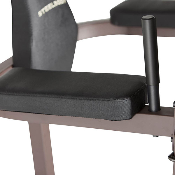 The Power Tower SteelBody STB-98501 includes thick padded VKR bars for extended intense workouts