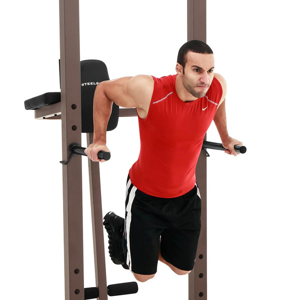 The Power Tower SteelBody STB-98501 in use - triceps dips