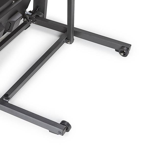 The Marcy Motorized Folding Treadmill JX-650W has wheels to make the treadmill easy to move