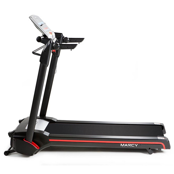 The Marcy Easy Folding Motorized Treadmill JX-651BW is a convenient way to run and be able to keep track