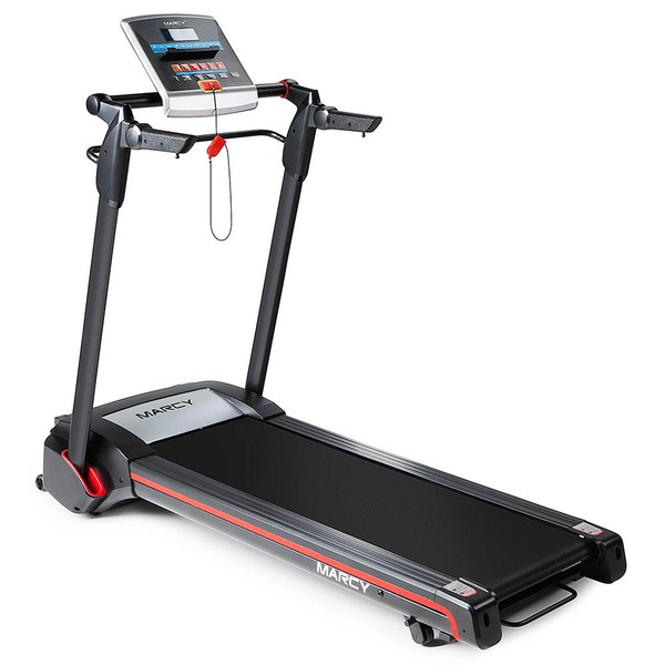 The Marcy Easy Folding Motorized Treadmill JX-651BW delivers a high intensity cardio conditioning workout to your home