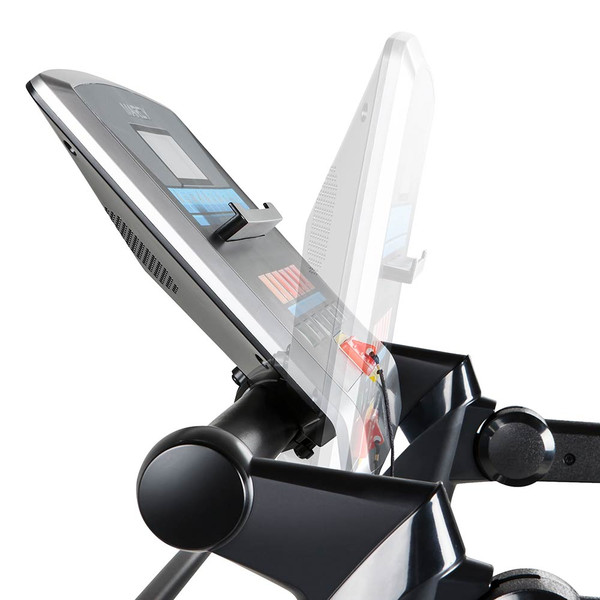 The Marcy Easy Folding Motorized Treadmill JX-651BW has a monitor that tilts to your convenience