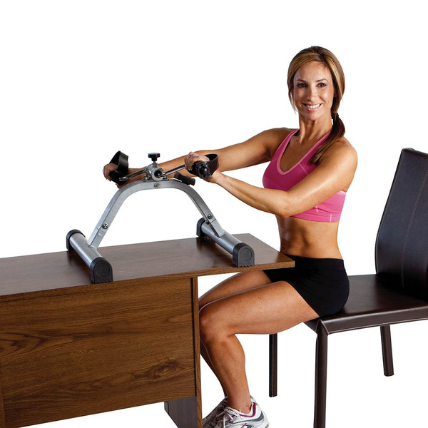 The Mini Pedal Exercise Cycle Marcy NS-912 can be used on top of a desk for an upper body workout