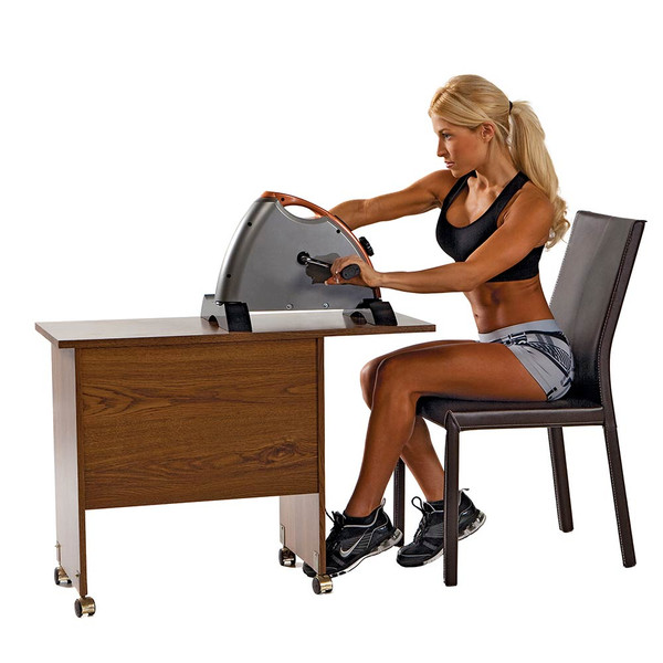 The Cardio Mini-Cycle NS-909 by Marcy can be used at the office on the desk or discreetly under the desk