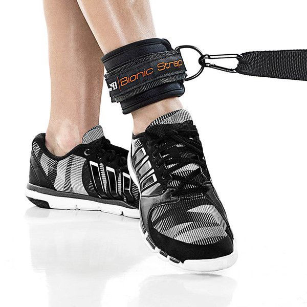 The Bionic Body Resistance Band Kit includes a wrist strap to tone your legs