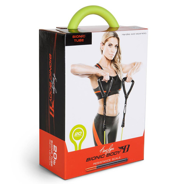 Long lasting Bionic Body 20 lb. Resistance Band Inside of the package