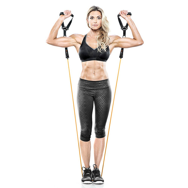 Heavy Duty Bionic Body 50 lb. Resistance Band in use by Kim Lyons