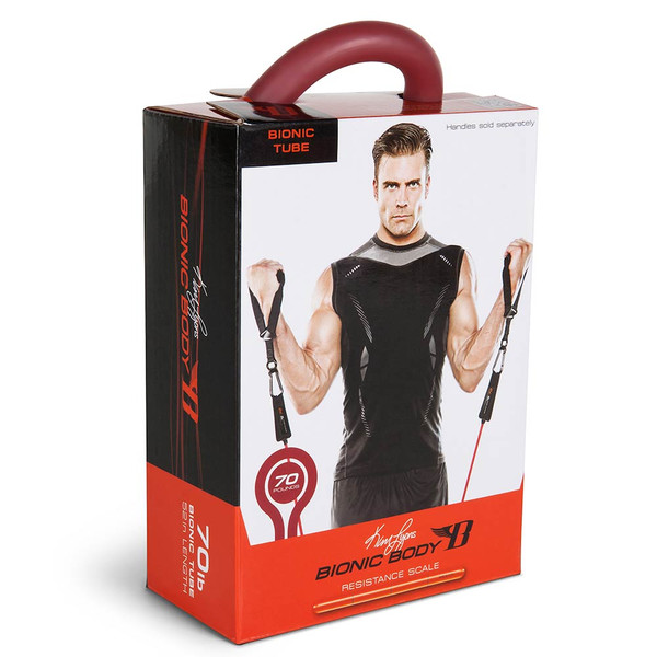 Long lasting Bionic Body 70 lb. Resistance Band Inside of the package