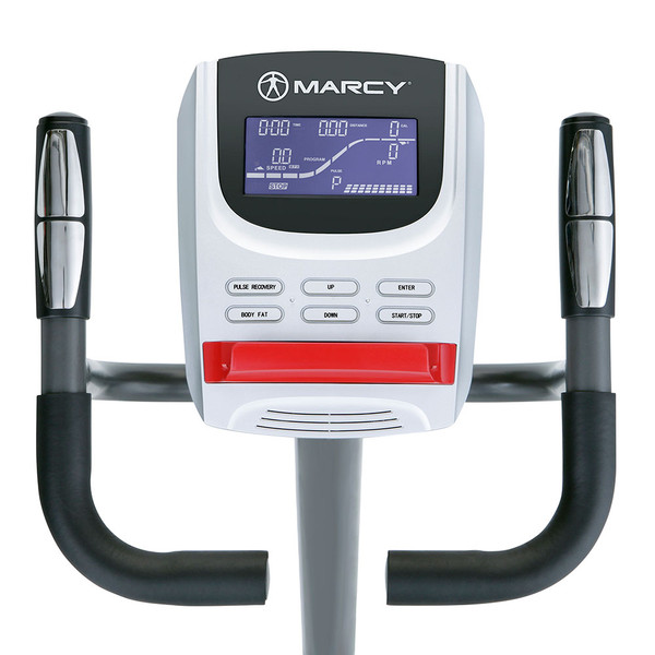 Regenerating Magnetic Upright Exercise Bike Marcy ME-702 with LCD Computer Display Screen to monitor progress