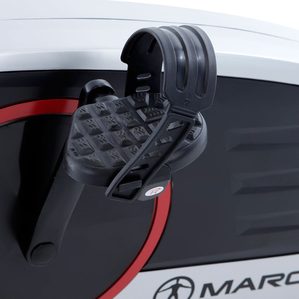 Regenerating Magnetic Upright Exercise Bike Marcy ME-702  with looped & gripped pedals to maintain safety during intense rides
