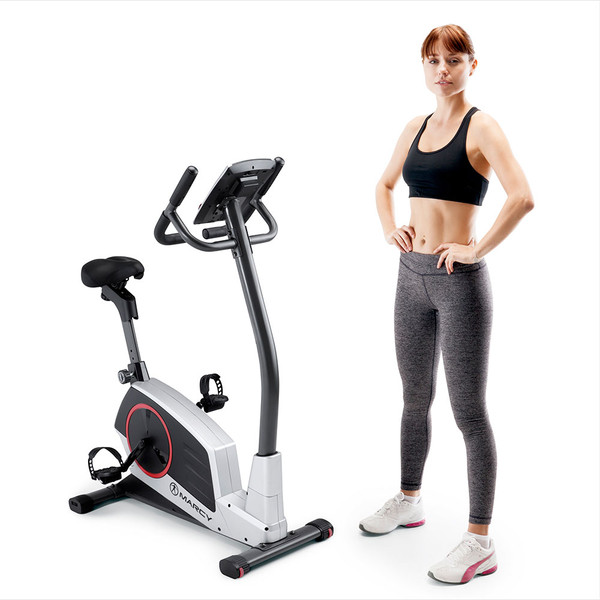 Model with Regenerating Magnetic Upright Exercise Bike Marcy ME-702