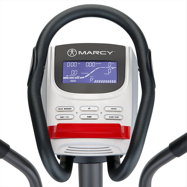 The Regenerating Magnetic Elliptical Trainer Machine Marcy ME-704  is a cardio device with computer display screen for tracking progress