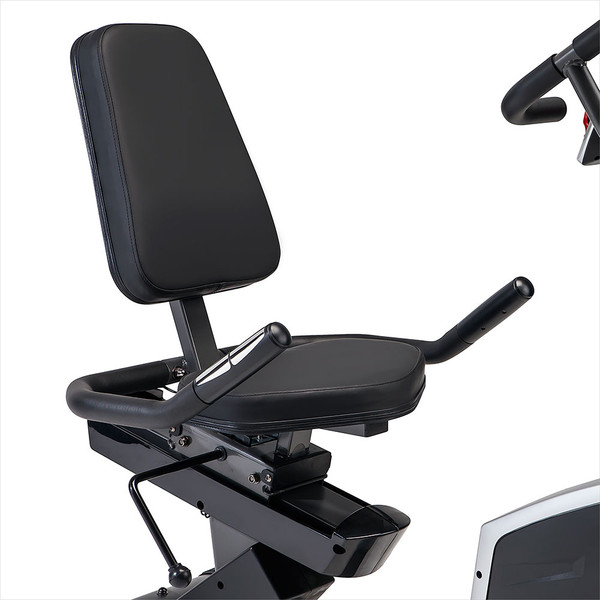 The Regenerating Magnetic Recumbent Bike | Marcy ME-706 includes ergonomic seat handles so you can take your cardio regimen to the limit